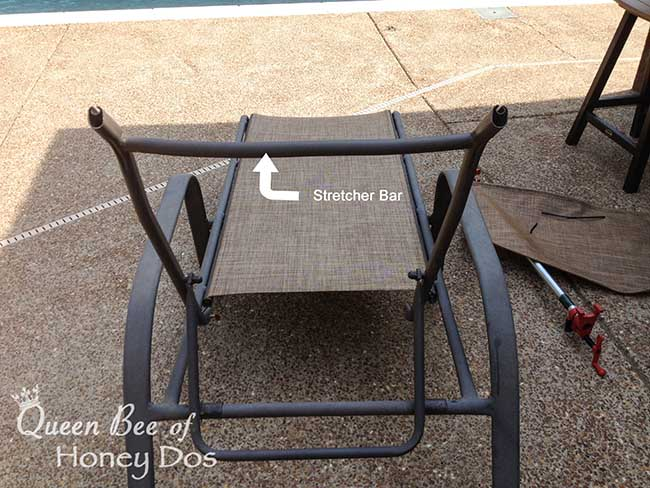 How to Repair Sling Chairs  Chaises  Queen Bee of Honey Dos