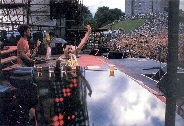Concert Queen live at the Slane Castle Slane County Meath Ireland 05071986 QueenConcerts