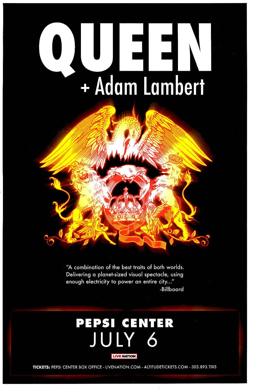 tour posters from queen adam lambert