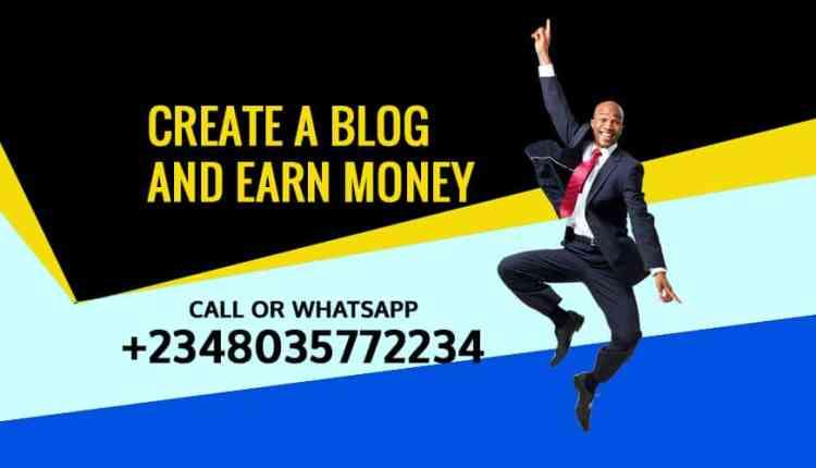 Create A Blog and Earn Money