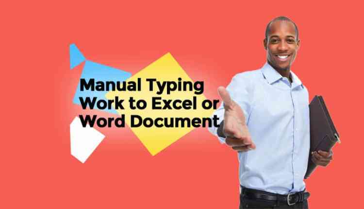 Manually typing work to Excel or Word document