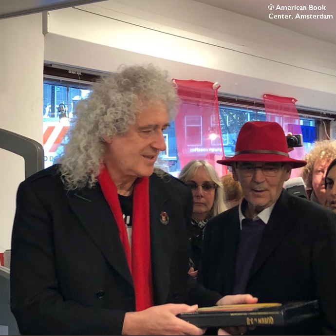 Brian May at American Book Center Amsterdam  Queen In 3D