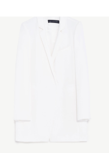 White Long Blazer by Zara