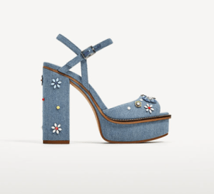 Denim Inspired Heels by Zara