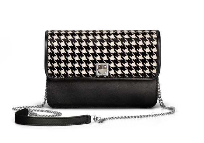 De Marquet_Night&Day_Horsehair Houndstooth Flap_Black Base_Chain