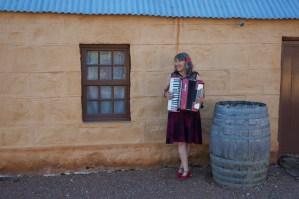 Juanita plays accordion