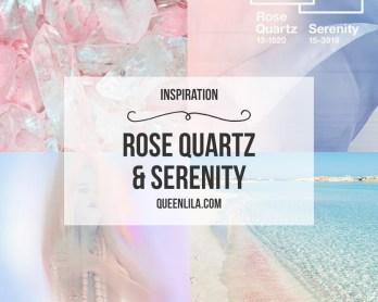 Rose quartz & Serenity inspiration. Click through for the roundup! | Queen Lila