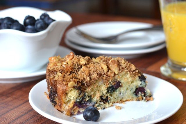 Extra moist because of the sour cream and apple. Serve this delicious coffee cake for breakfast OR dessert. | QueenofMyKitchen.com