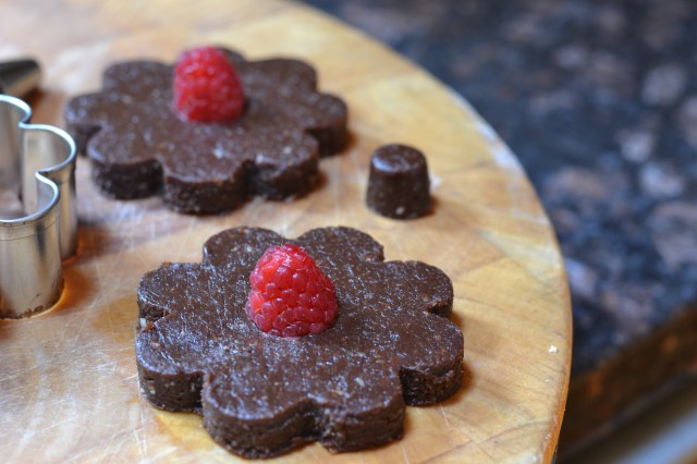 Satisfy your sweet tooth with Gluten Free Raspberry Fudge Flowers. They require no baking and have 75% less sugar than traditional fudge.   QueenofMyKitchen.com