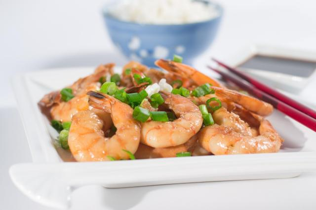 Roasted Shrimp with Agave-Ginger-Soy Marinade. Serve with jasmine rice or sautéed snow peas for a complete Asian inspired meal.| QueenofMyKitchen.com