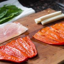Roasted Red Pepper Involtini