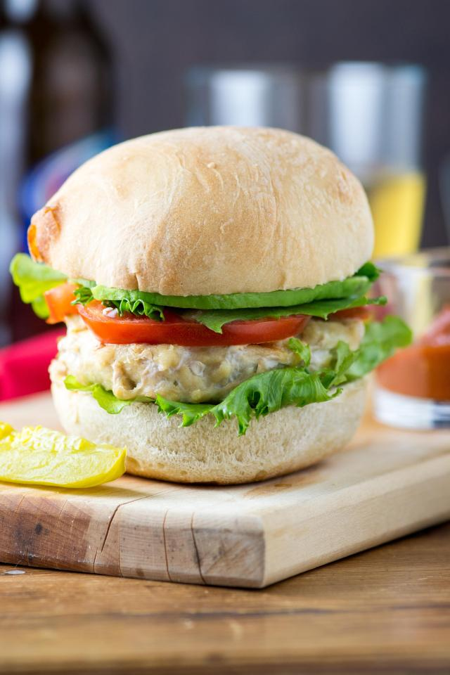 Oven Grilled Boursin Chicken Burgers – Make these deliciously savory burgers in your oven, complete with gorgeous grill marks! | QueenofMyKitchen.com