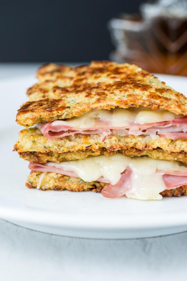 Cauliflower Monte Cristo Sandwiches – A lightened up version of the classic sandwich made with slices of cauliflower bread instead of French toast. Gluten-free. | QueenofMyKitchen.com