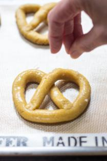 Chickpea Pretzels - An all-American snack made healthier and gluten-free with the help of protein and fiber rich chickpea flour.   QueenofMyKitche.com