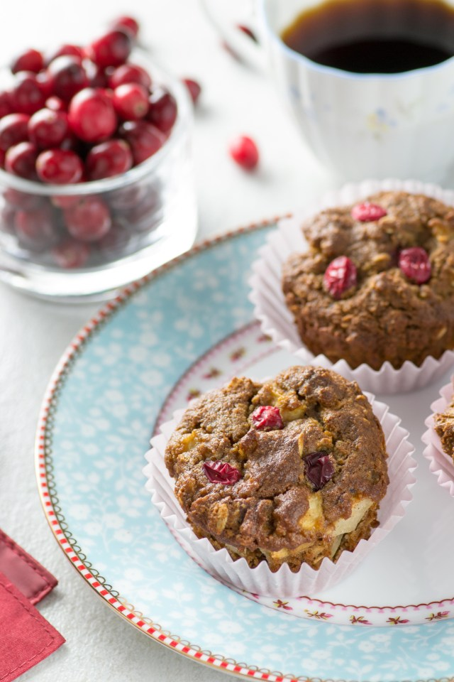 Almond Flour Cranberry Sauce Muffins - These delicious gluten-free, dairy-free muffins are one of the best uses ever for leftover Thanksgiving cranberry sauce. | QueenofMyKitchen.com #muffins #breakfastrecipe #glutenfreerecipe #dairyfreerecipe #almondflourrecipe