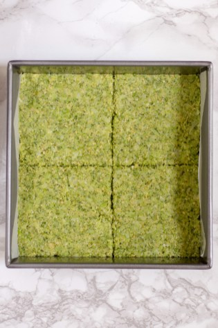 Broccoli Bread Slices - Healthy, gluten-free bread made from one of American's most popular vegetables. Each slice contains more than 1 serving of broccoli.   QueenofMyKitchen.com  #broccoli #veggies #glutenfree #glutenfreebread #glutenfreerecipes #healthybread #yummyveggies