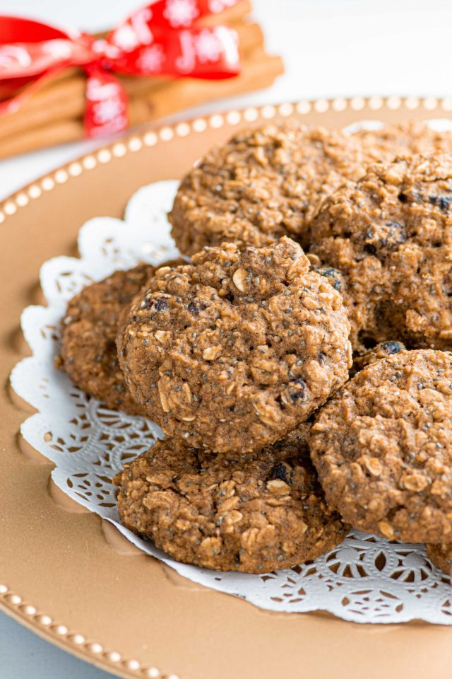 Chickpea Oatmeal Raisin Cookies - Traditional oatmeal raisin cookies are transformed with a humble can of chickpeas. The results will surprise you! | QueenofMyKitchen.com | #easy #healthy #gluten-free #healthycookies #healthyoatmealcookies #healthy #oatmealraisin #cookies #healthybaking