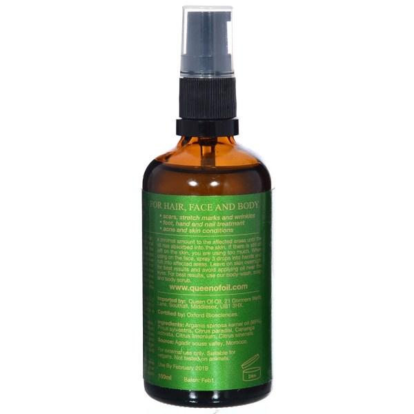 argan oil with essence of citrus