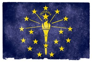 Indiana grunge flag