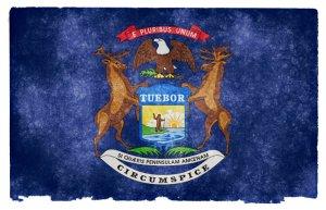 Michigan grunge flag