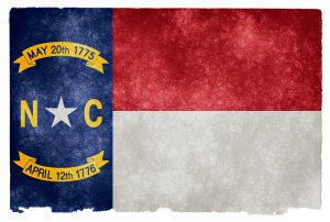 North Carolina grunge flag