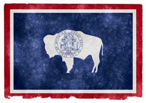 Wyoming grunge flag