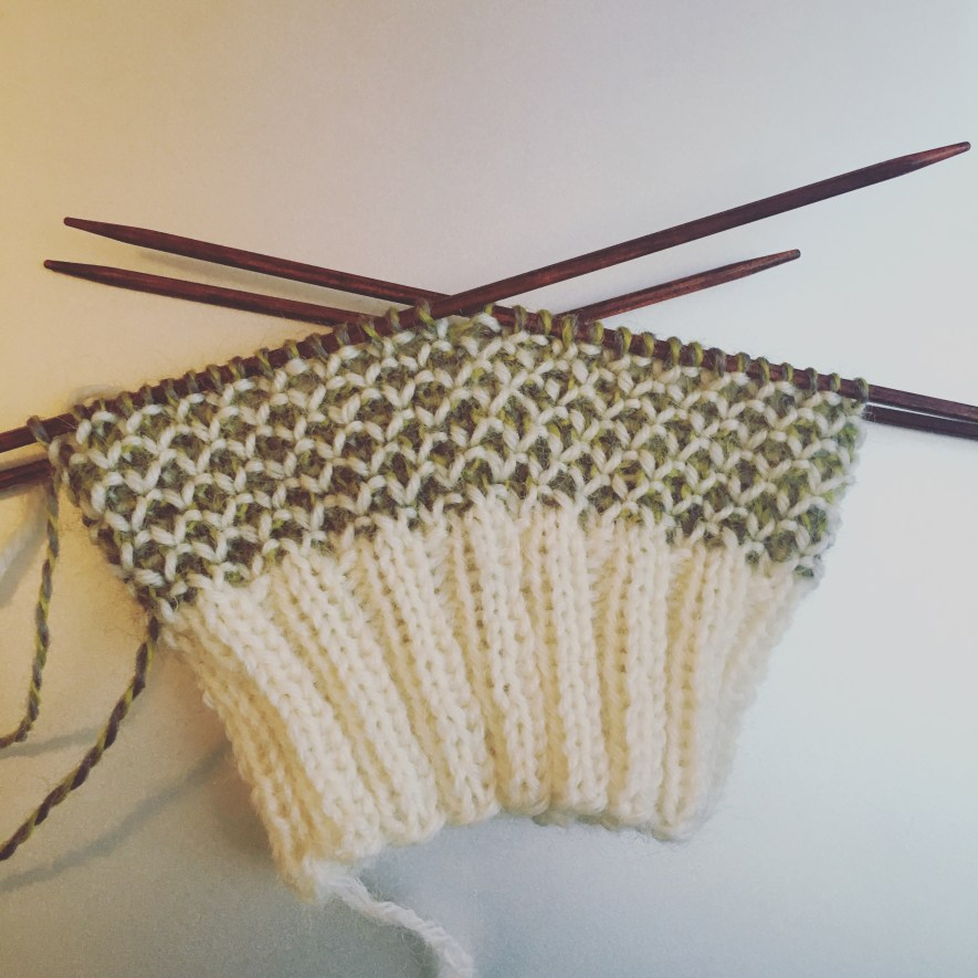 Broken Seed Stitch-Socken