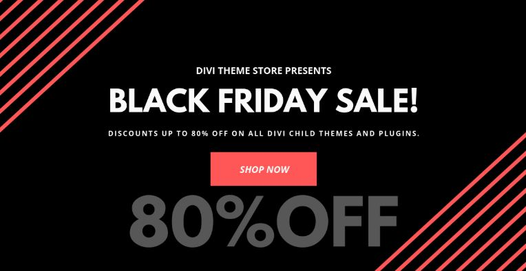 Divi Child Themes Black Friday Sale