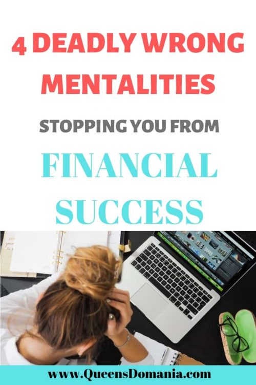 wrong mentalities stopping you from financial success