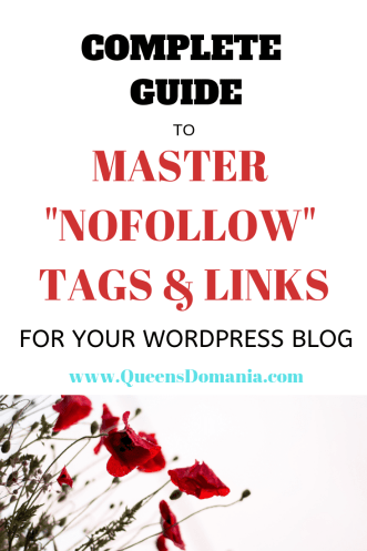 Complete guide to nofollow links and tags in wordpress blog - queensdomania.com