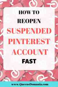 Pinterest suspension prevention and reactivation