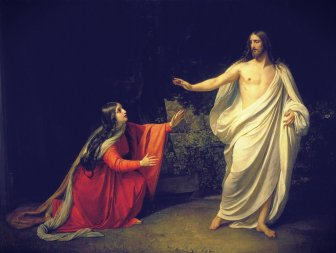 19th Century painting of Jesus appearing to Mary Magdalene by Alexander Andreyevich Ivanov