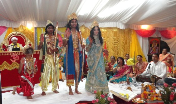 Children dressed as Lord Hanuman