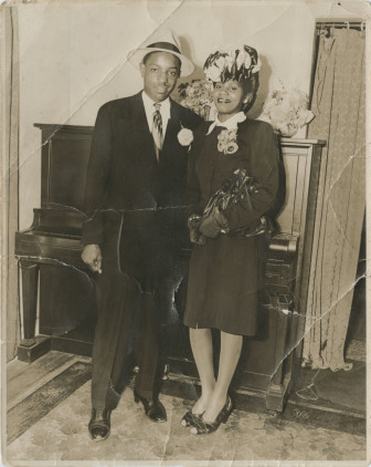 Gladys and John Weaver on Mother's Day in Jamaica (1950).
