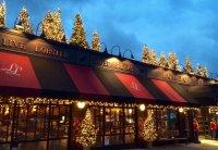 London Lennie's at Christmas with blue sky
