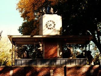Spot the zoo animals: Delacorte Clock