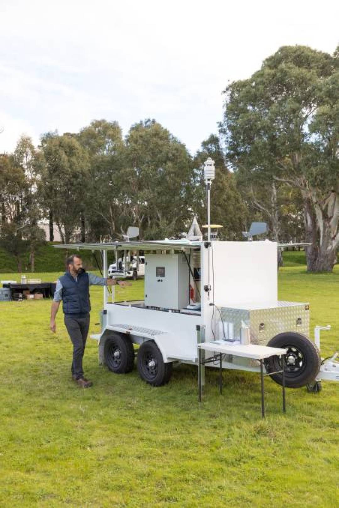 TECH: The Sentinel is a custom-designed surveillance trailer unit designed to offer optimal sampling of airborne fungal spores and insects.