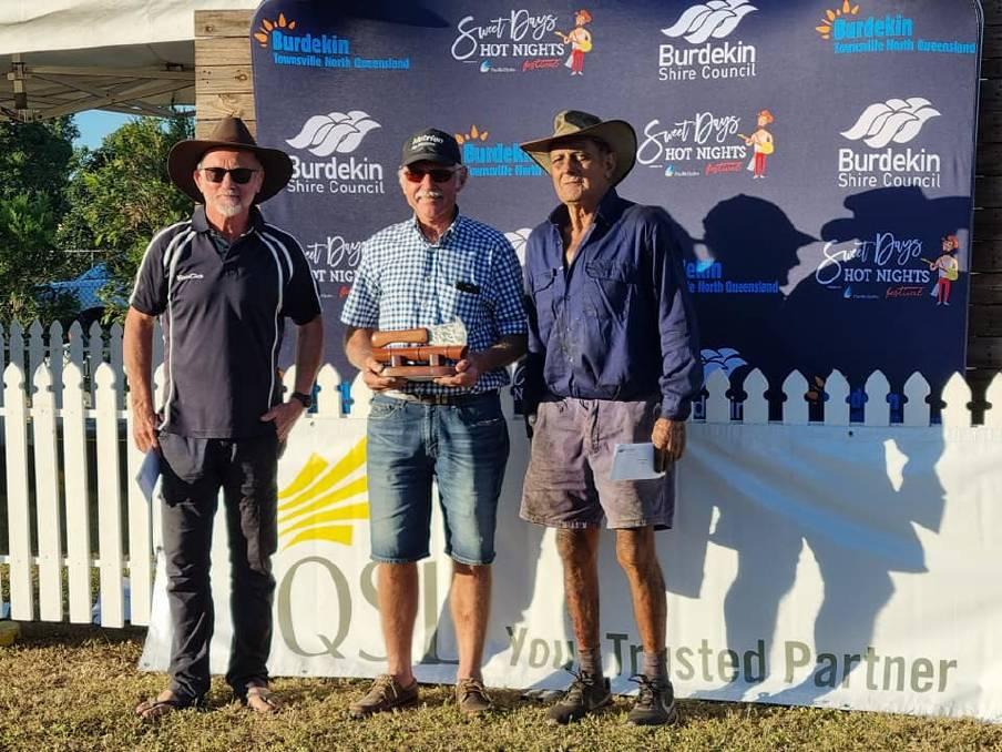 Over 55 Cane cutter winner Bill Matthews with Peter Maddern and Alsemo Felesina.