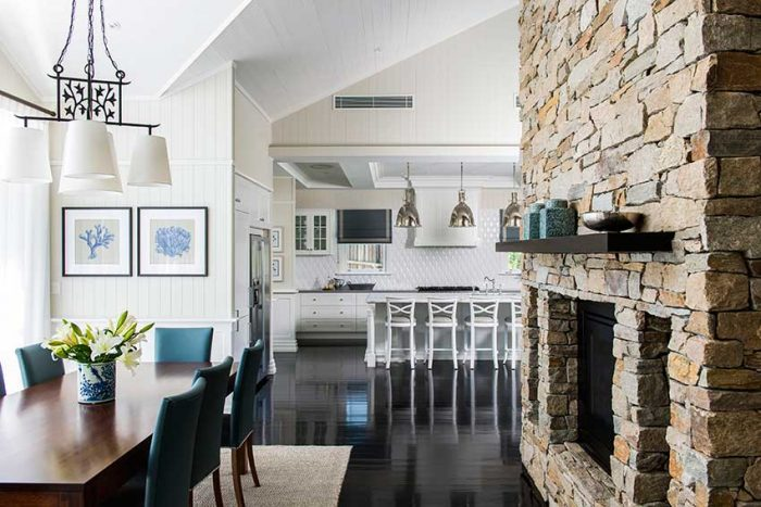 cape cod style house living room pictures for a wall modern meets queensland home homes magazine weatherboards natural stone features and white accents are some of the trademark although traditional design