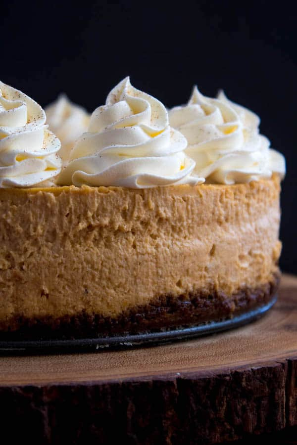 Pumpkin Cheesecake With Gingersnap Crust Recipe