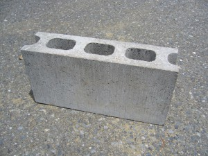 This is a cinder block.