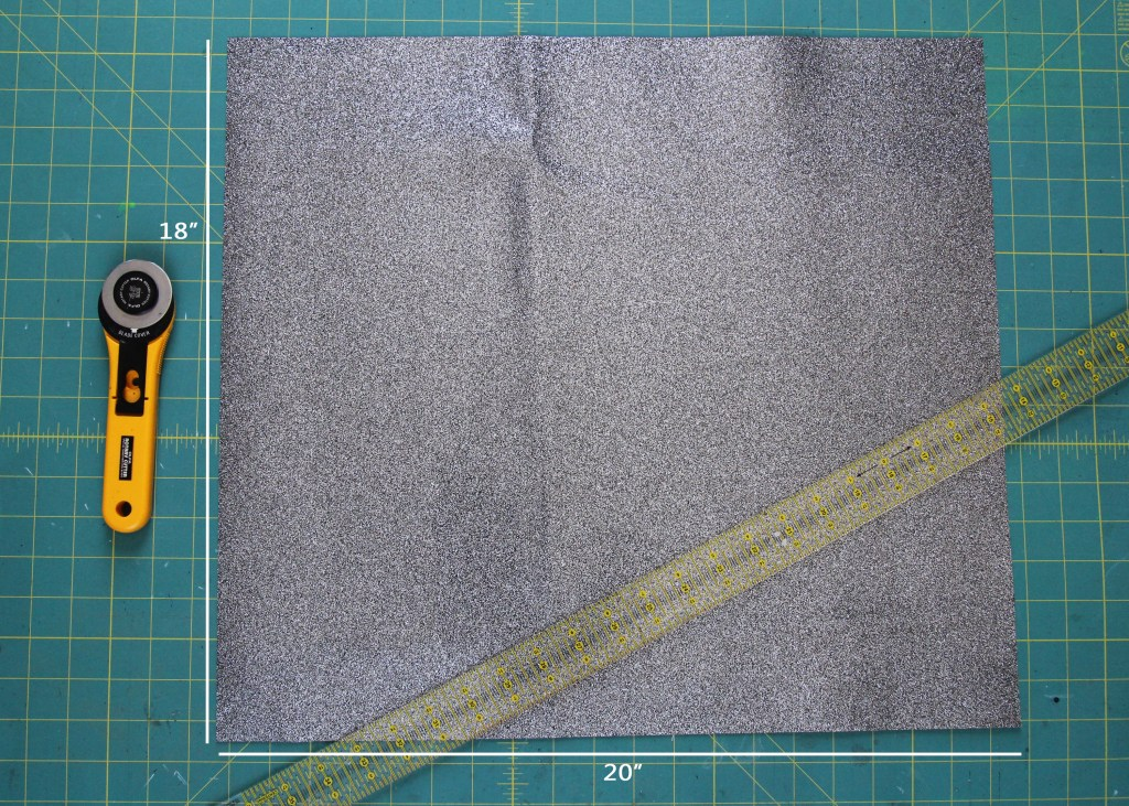 step 1- cut rectangle piece with measurements