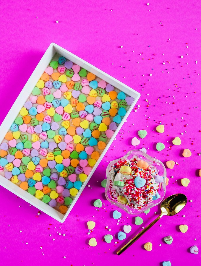 DIY CONVERSATION CANDY HEART RESIN TRAY