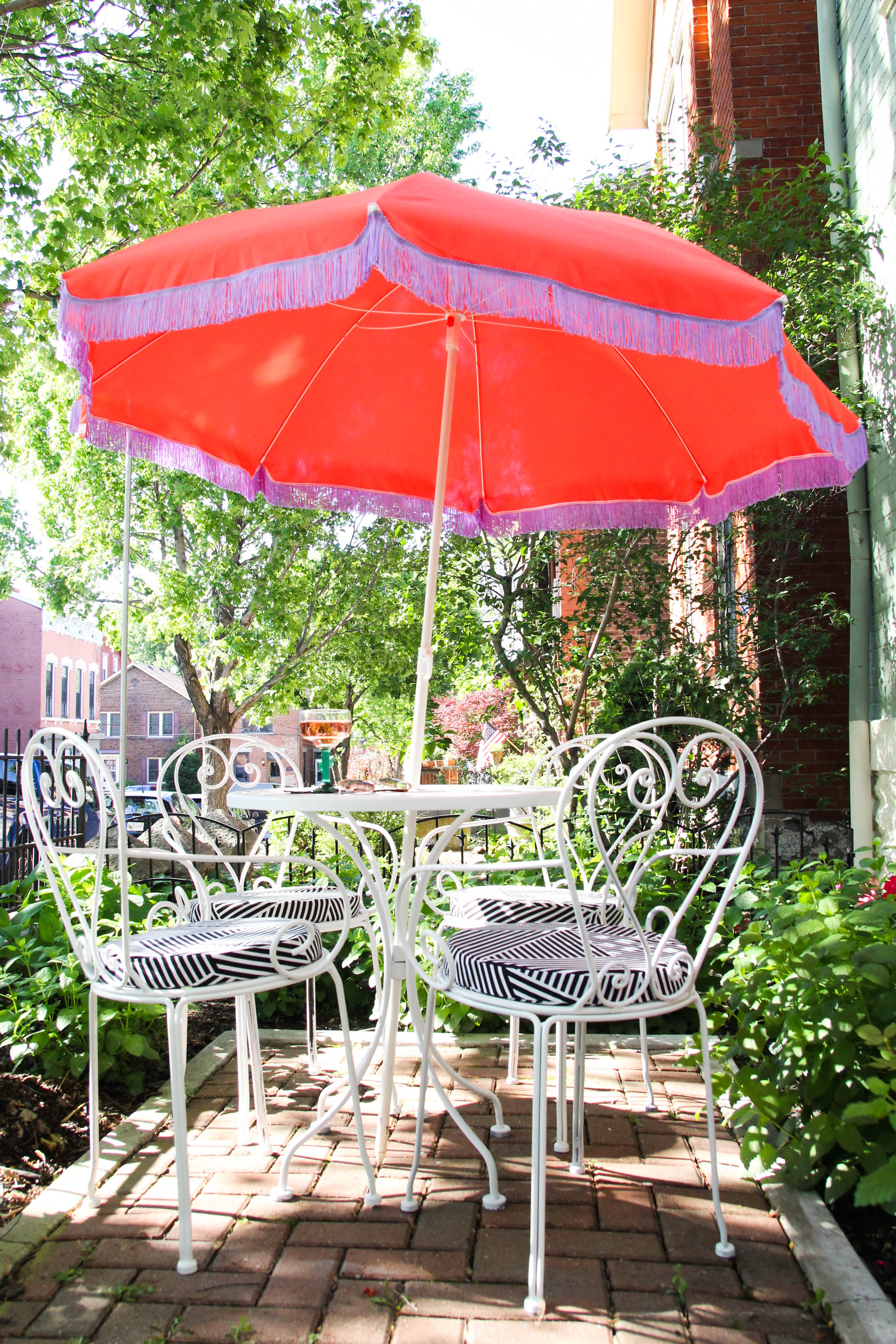 I Love Our Garden Patio Space, But The Sun Can Be Too Strong At Times For  This Pale Gal. When Looking For A Patio Umbrella, I Knew I Wanted It To Fit  ...
