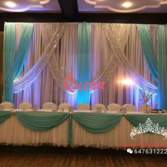 Chair Covers Rental Scarborough And Sofa For Sale Reception Decor Backdrop | Queen Wedding