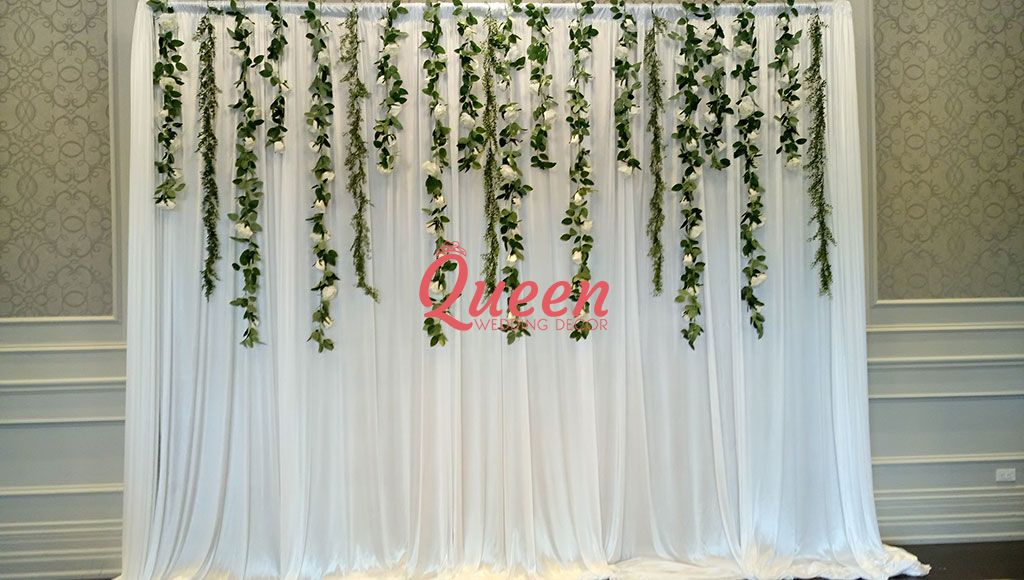 chair covers rental scarborough ikea nils reception decor backdrop | queen wedding
