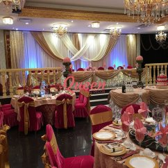Chair Cover Rental Cost Director Covers Black Reception Decor Backdrop | Wedding Decorations Toronto, Markham And Mississauga