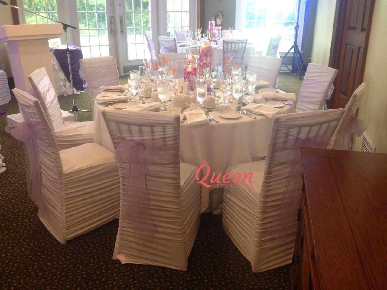 wedding chair cover hire scarborough replacement casters for office chairs angus glen golf club queen decor