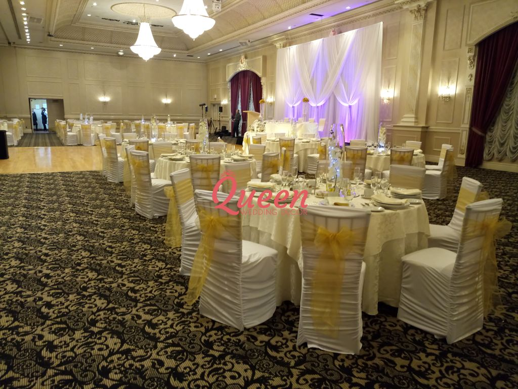 wedding chair cover hire scarborough barber chairs ebay table decor and covers decorations toronto