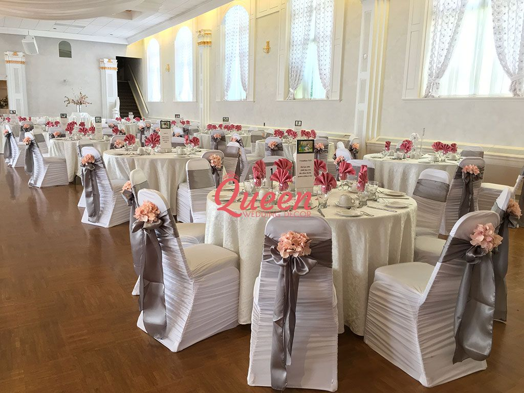 wedding chair covers for office repair table decor and queen